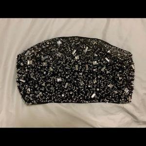 Carli Bybel x Missguided Black Embellished Bandeau